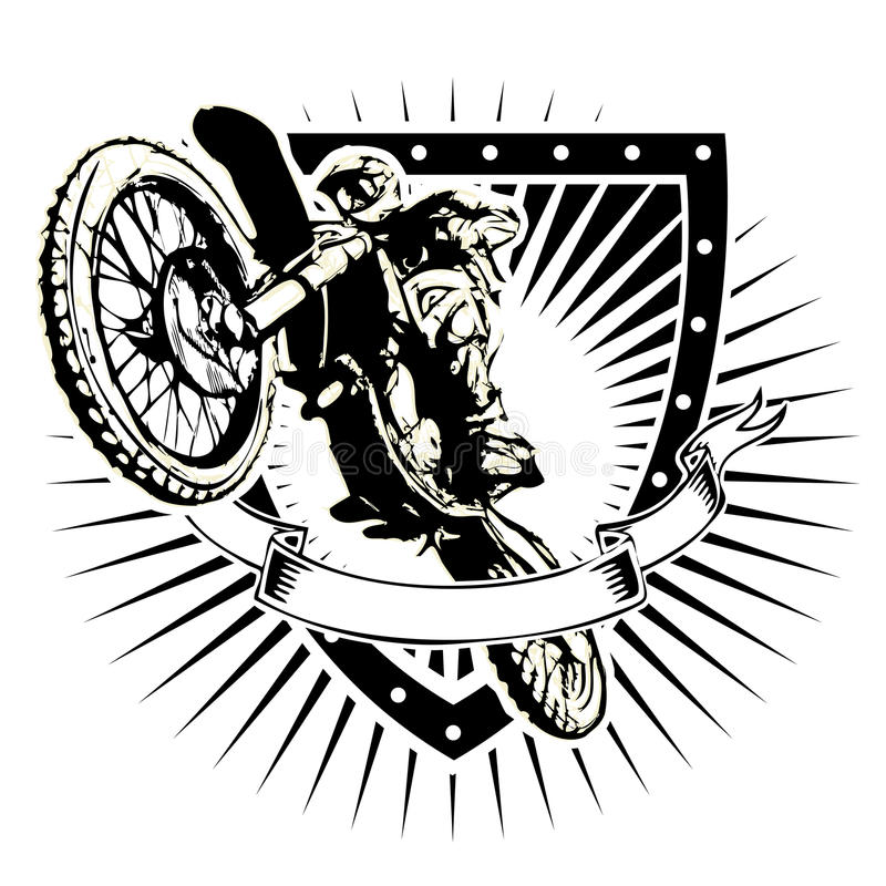 Motocross Shield Stock Vector Illustration Of Motorcycle