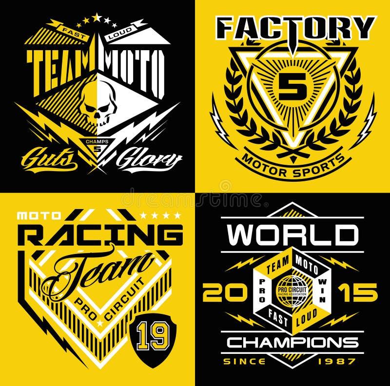 Motocross sporta osłony koszulki grafika royalty ilustracja