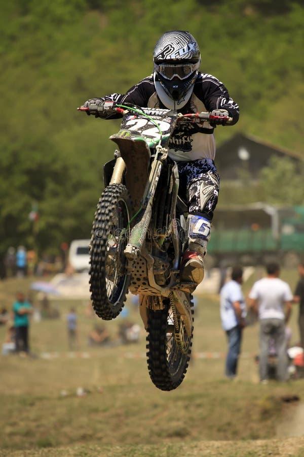 Motocross-sprong. stock foto's