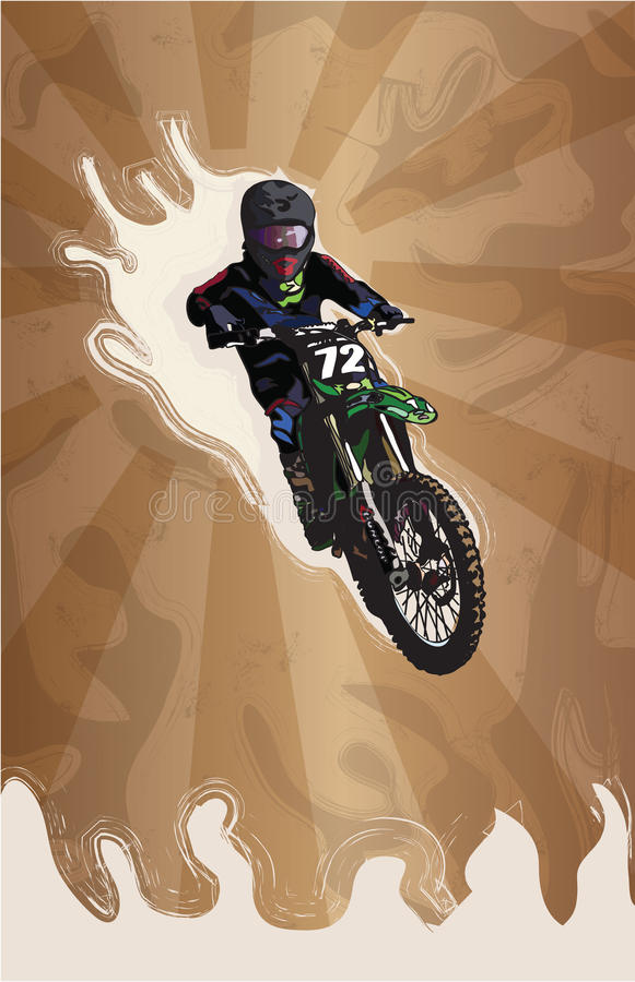 Download Motocross stylized stock illustration. Illustration of engine - 34330669