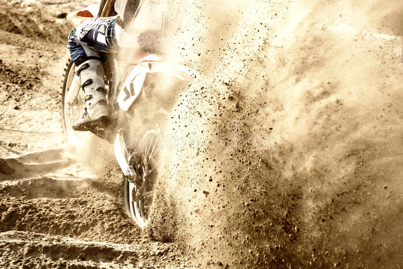 Motocross sur le sable photographie stock