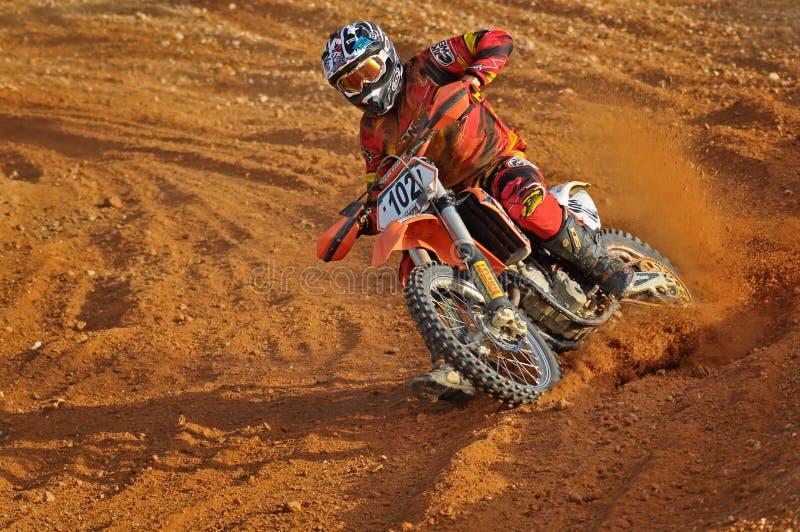 Motocross takig hoeken royalty-vrije stock foto
