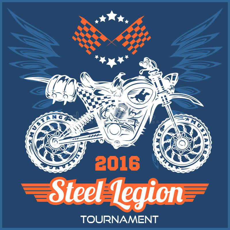 Motocross Tournament emblem vector illustration