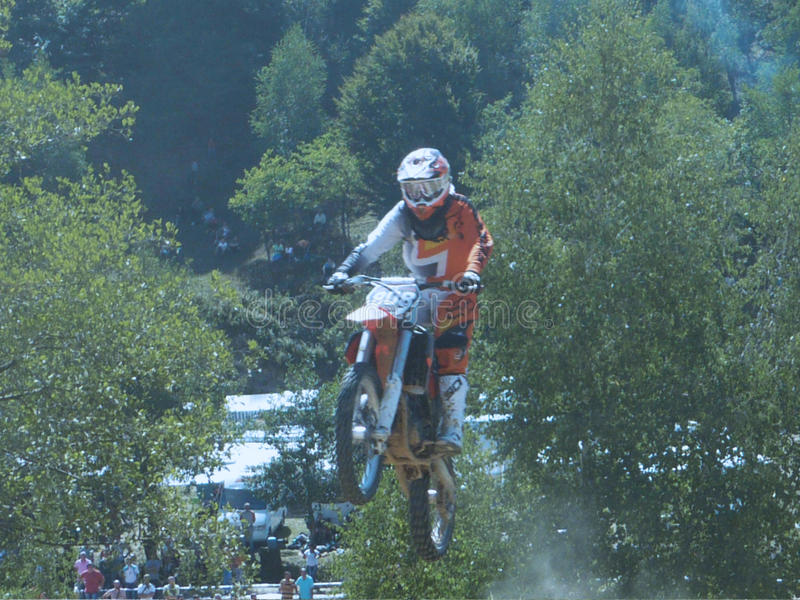 Motocross Ucraina fotografia stock libera da diritti