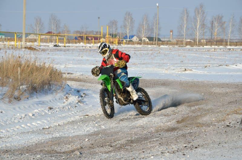 motocross zwroty proslipping biegowi zdjęcia royalty free