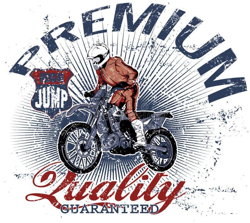 Motocrossaffärsföretag royaltyfri illustrationer