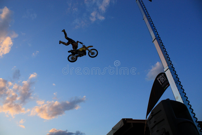 Motocrosser stock images