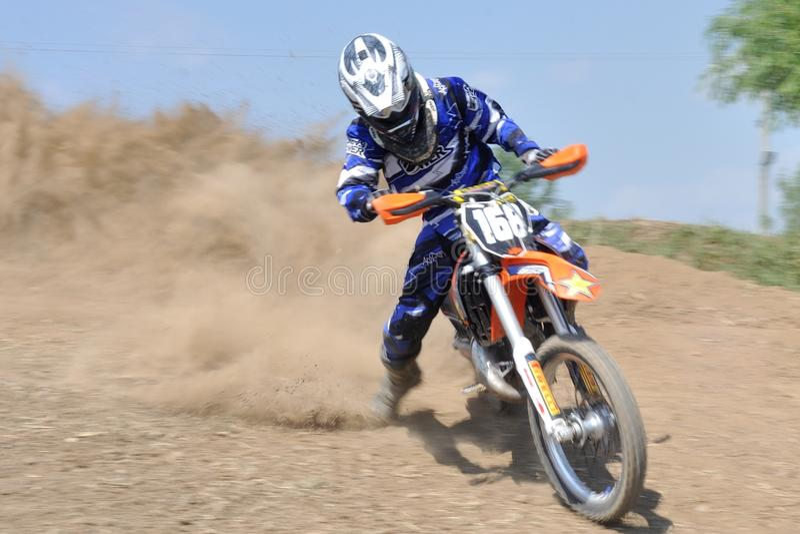 Motocrossherausforderung stockfoto