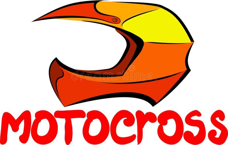 Motocrosshjälm vektor illustrationer