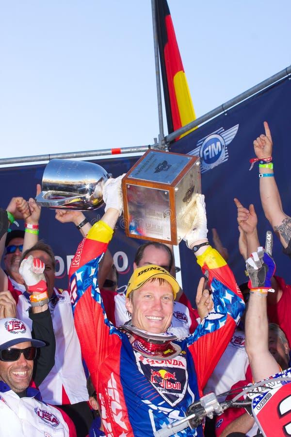 motocrossnationer team USA royaltyfri bild