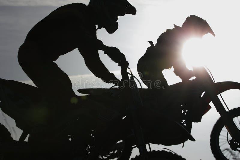 Motocrossvrijheid stock foto's
