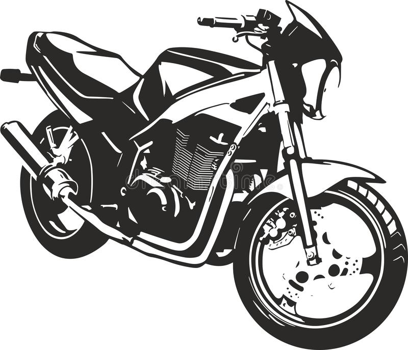 Motocycle stock illustrationer