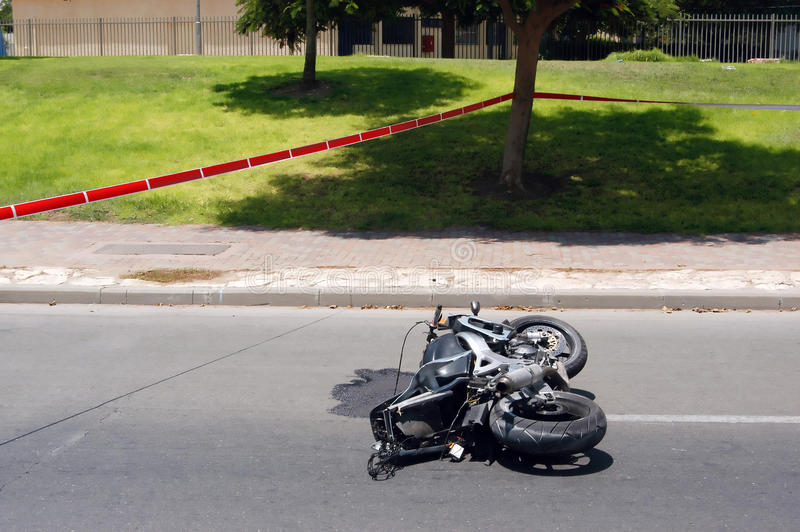 Download Motocycle Accident stock photo. Image of leaking, damage - 15861536