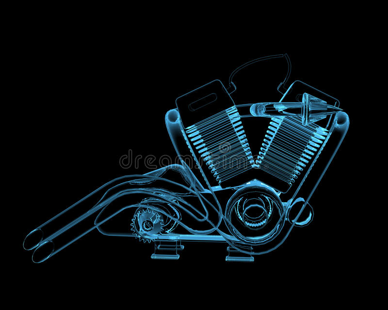 Motocycle Engine Royalty Free Stock Images