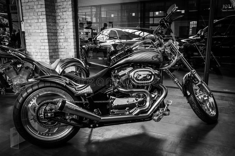 Motocycle Harley-Davidson Custom Bike arkivbild