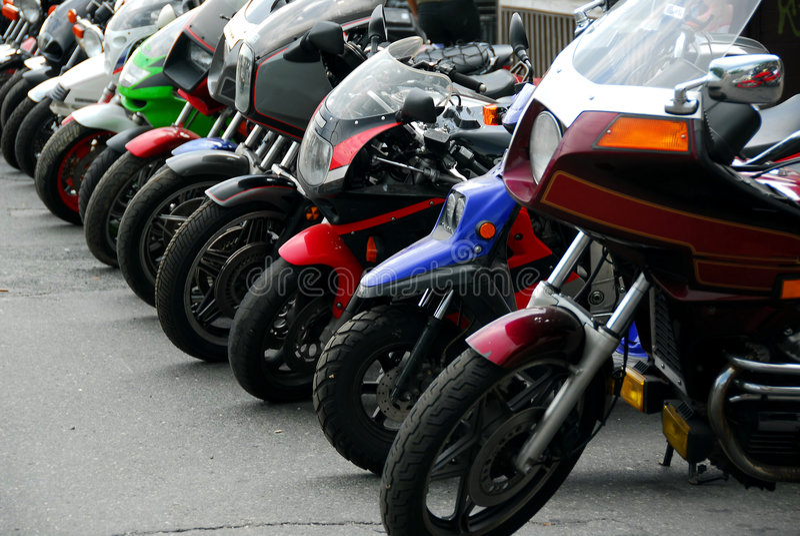 motocycles行 库存照片