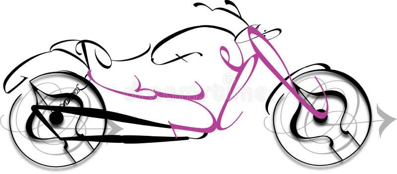 Motocyclette illustration stock