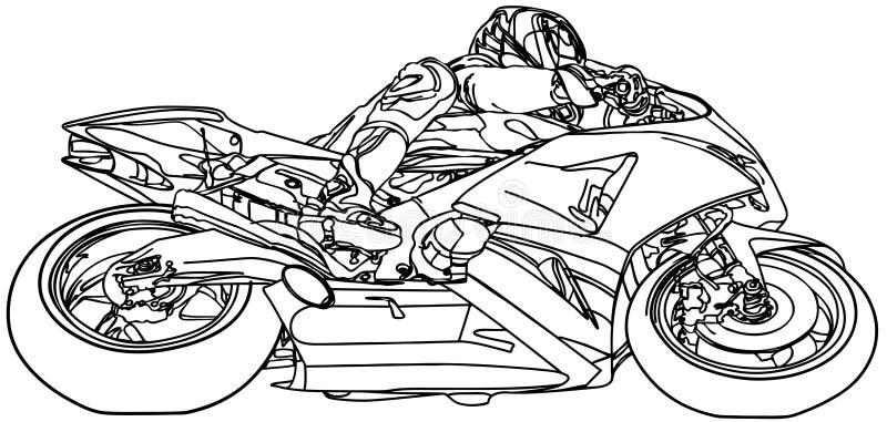 Motocyclette illustration de vecteur