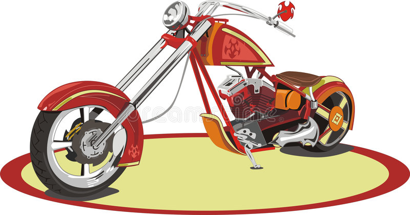Download Motocyclette illustration de vecteur. Illustration du peinture - 8672242