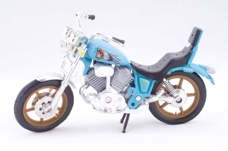 Motocyclette d'isolement images stock