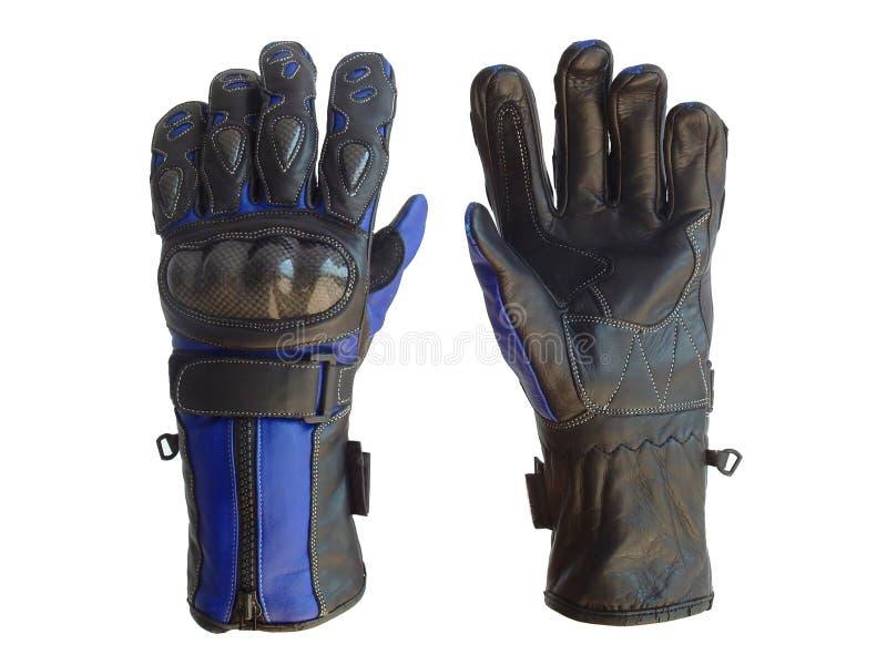 Motocyclette emballant des gants photo libre de droits