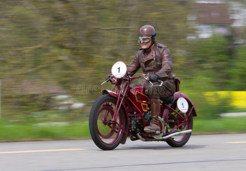 Motocyclette Moto Guzzi C4V de cru de 1924 image libre de droits