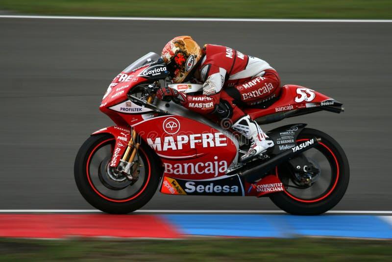 Motocyclette sur le circuit de MotoGP photos stock