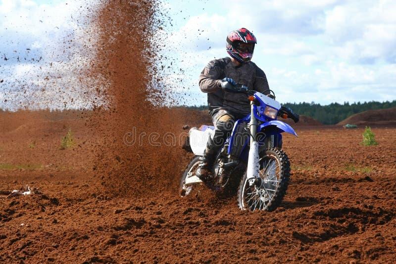 Motocyclette tous terrains en saleté photo libre de droits