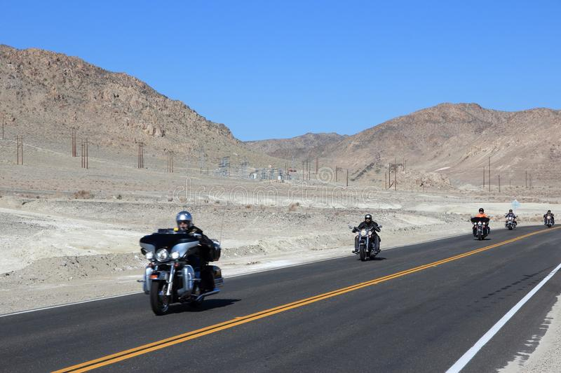 Motocyclettes de Death Valley image stock
