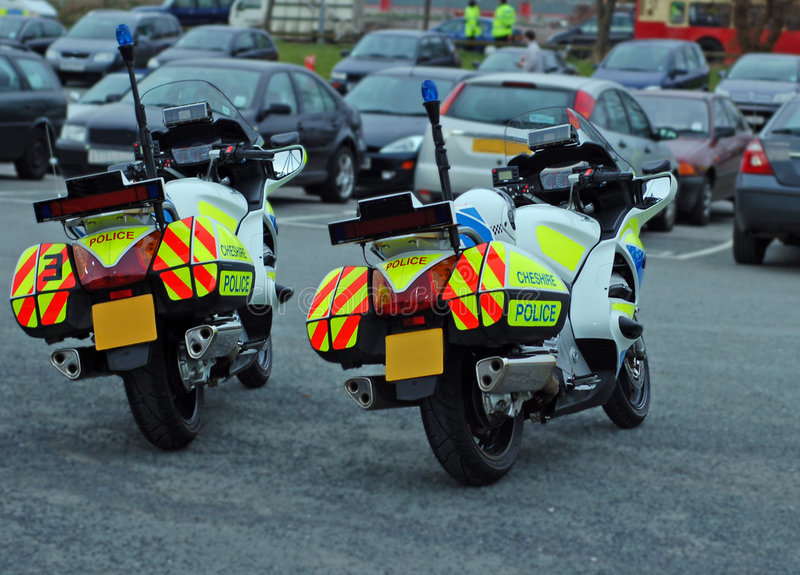 Motocyclettes de police photos libres de droits