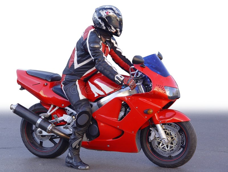 Motocycliste images stock
