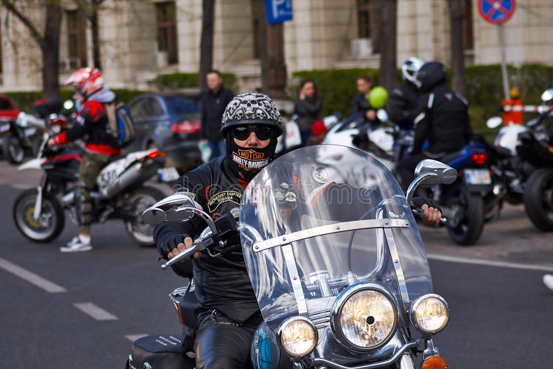 Motocycliste de Harley-Davidson images stock