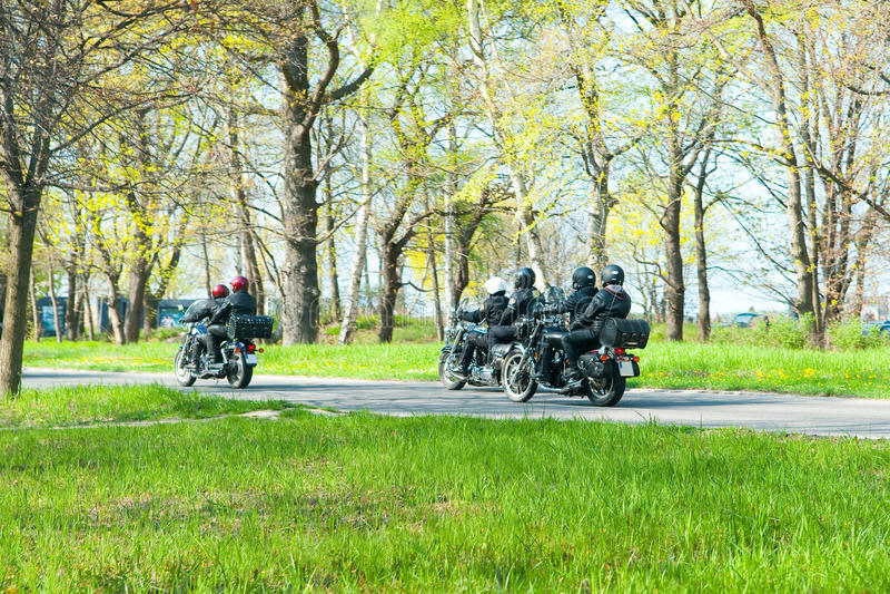 Motocyclistes photographie stock