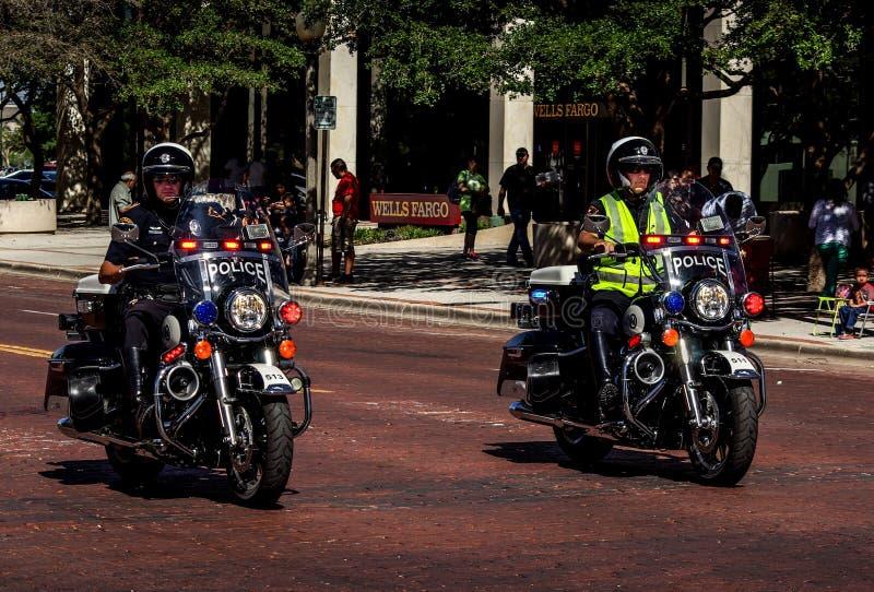 Motocyclistes de police. image libre de droits