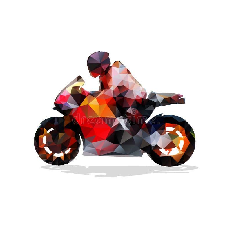 Motocykl, abstrakcjonistyczna geometryczna wektorowa sylwetka ilustracji