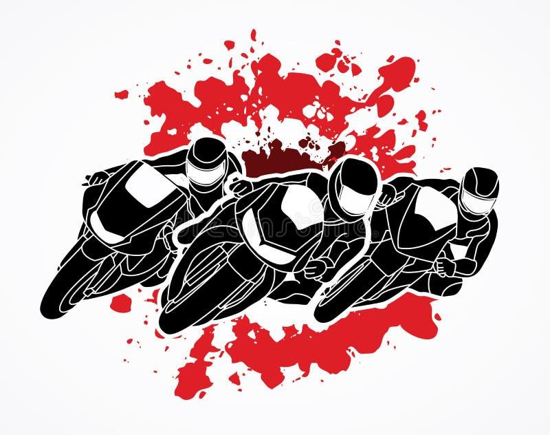 Motocykl Bieżna grafika royalty ilustracja