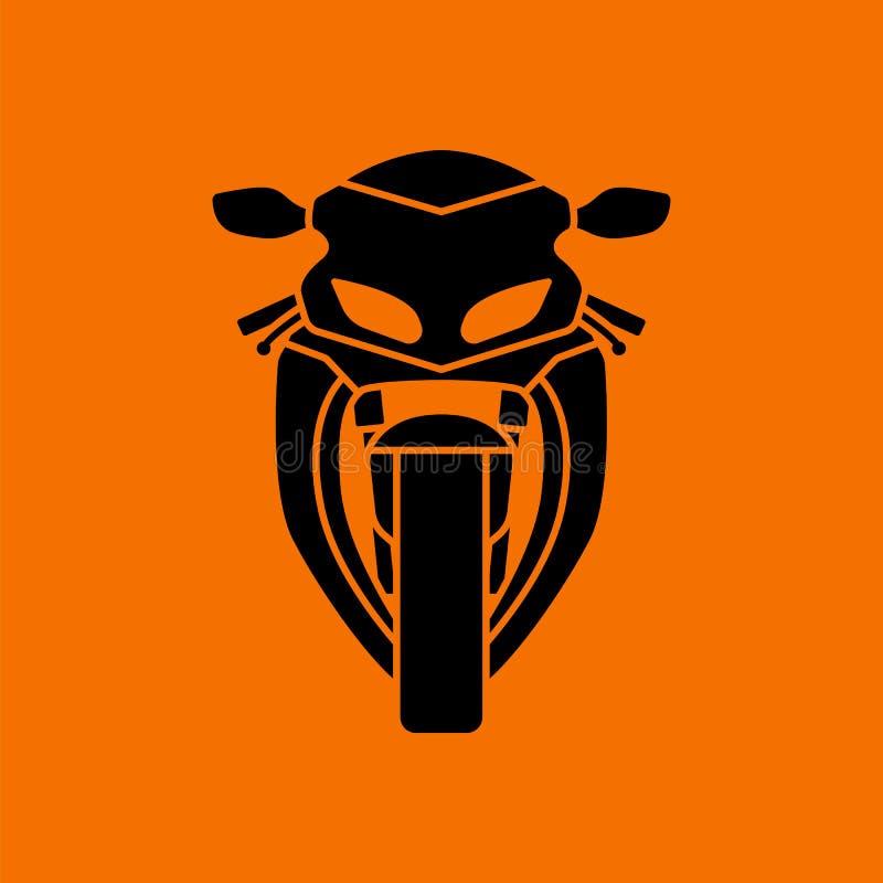 Motocykl ikony frontowy widok ilustracja wektor
