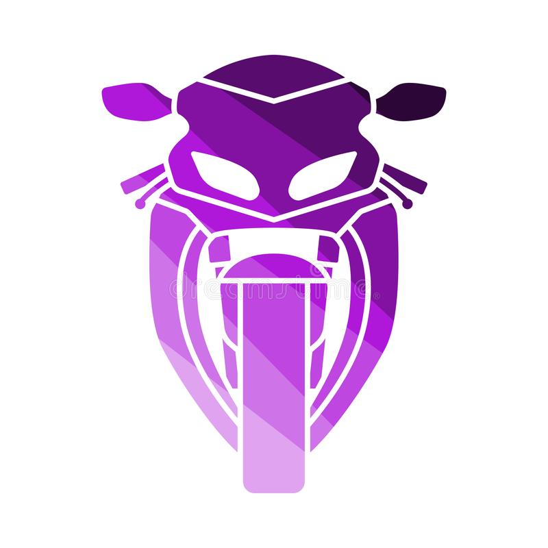 Motocykl ikony frontowy widok ilustracji