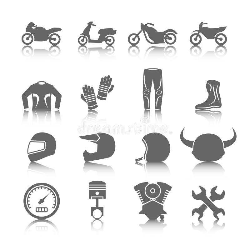 Motocykl ikony Ustawiać ilustracji
