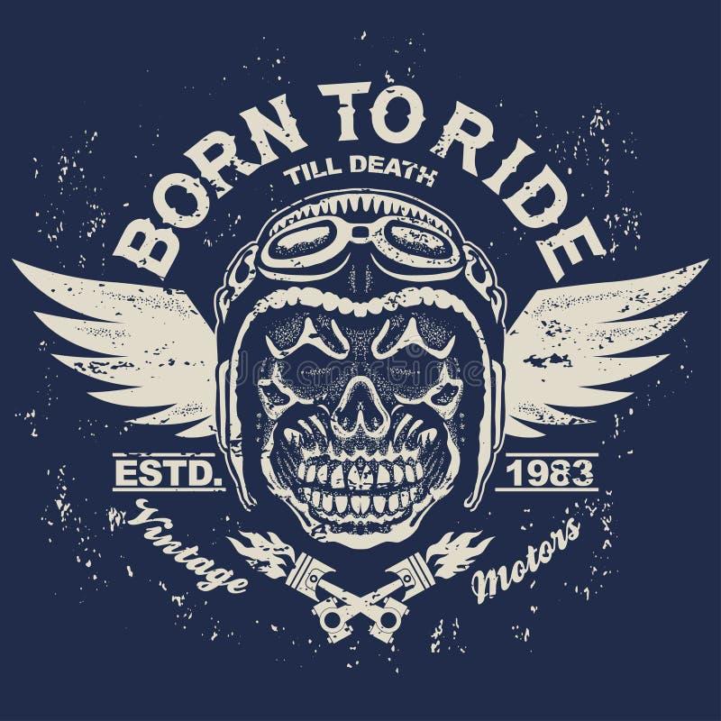 Motocykl koszulki grafika royalty ilustracja