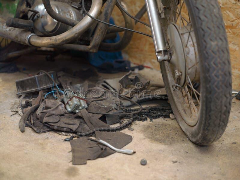 Motocykl potrzeb naprawa obrazy royalty free
