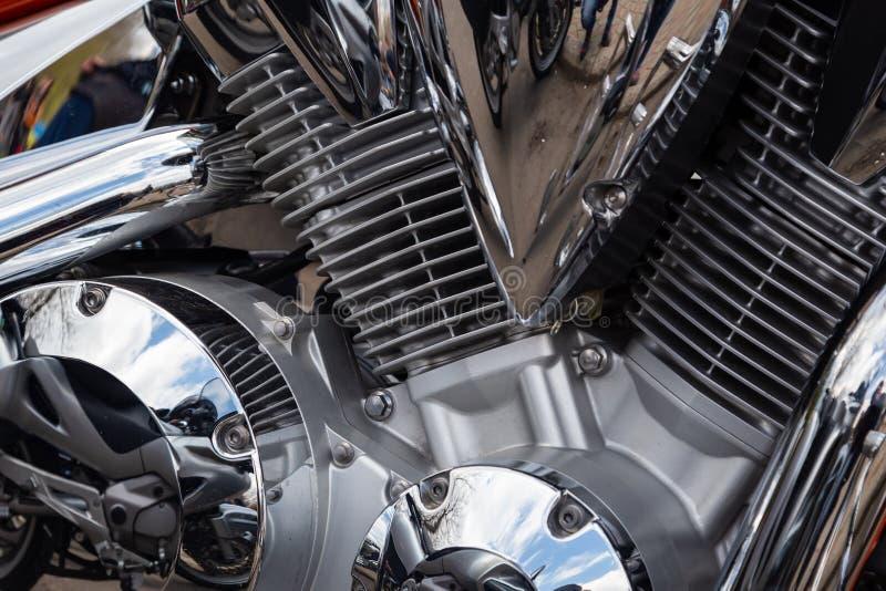 Motocykl przy wiosny przymkni?ciem motocyklu sezon fotografia royalty free
