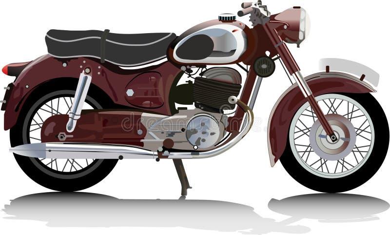 motocykl stary ilustracja wektor