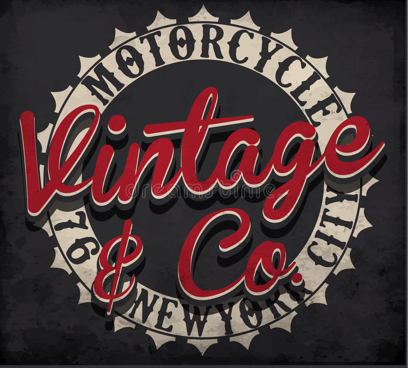 Motocykl typografia; koszulek grafika; wektory ilustracja wektor