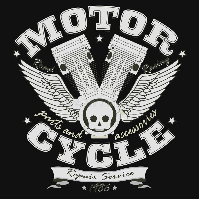 Motocykl typografii Bieżne grafika - wektor ilustracja wektor