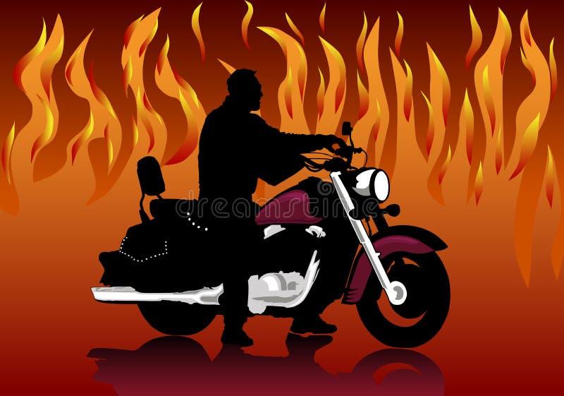 motocyklista ilustracji