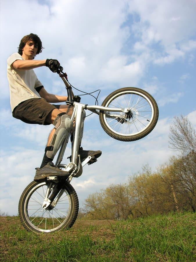 motocyklista góry zdjęcia stock