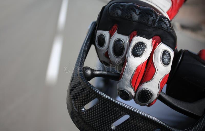 motocyklista rękawica obraz royalty free