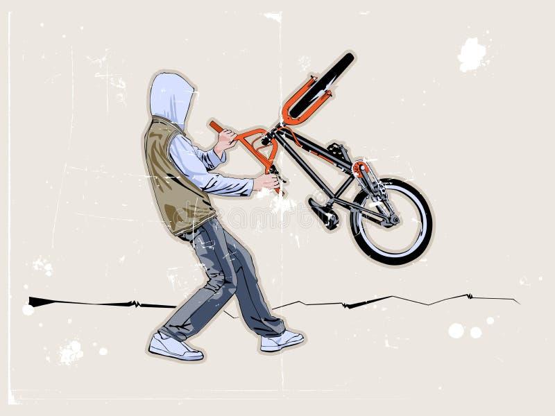 Motocyklista Street Obraz Stock