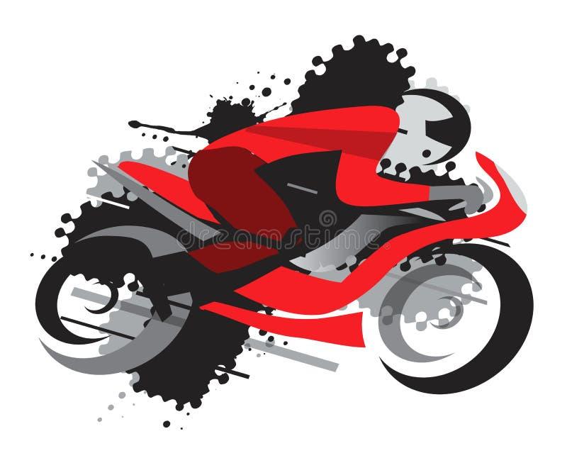 Motocyklu ścigać się ilustracja wektor